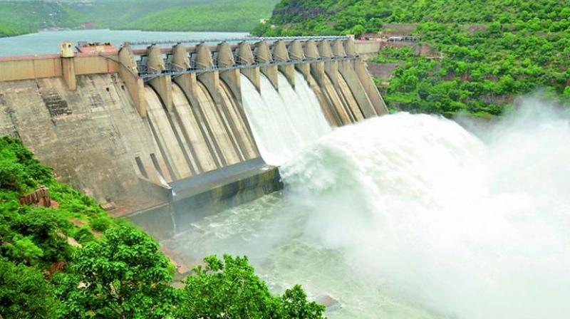 Vijayawada: Gates of Srisailam reservoir lifted after heavy inflow of water
