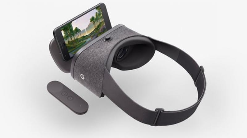 The Google Daydream View virtual reality headset is available in gray, snow and crimson colour options at a starting price of $79.