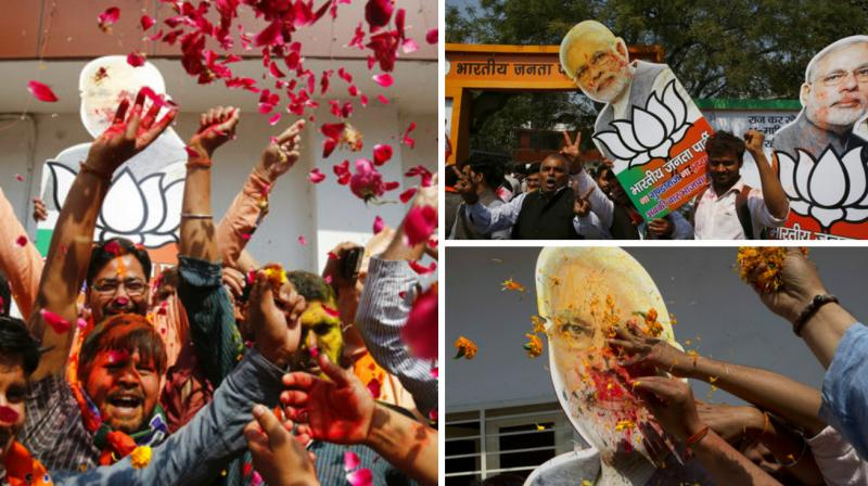 Prime Minister Narendra Modi led his party to a stupendous victory in UP, ending BJP's 14-year exile in India's most-populous state.