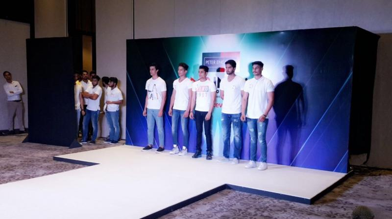Hopefuls at the Mr India selection round in Chandigarh.