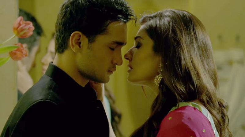 Ashish Bisht and Raveena Tandon in 'Shab.'