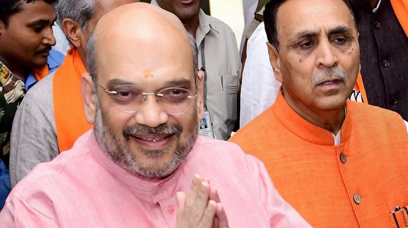 Amit Shah takes dig at Cong in Guj Assembly