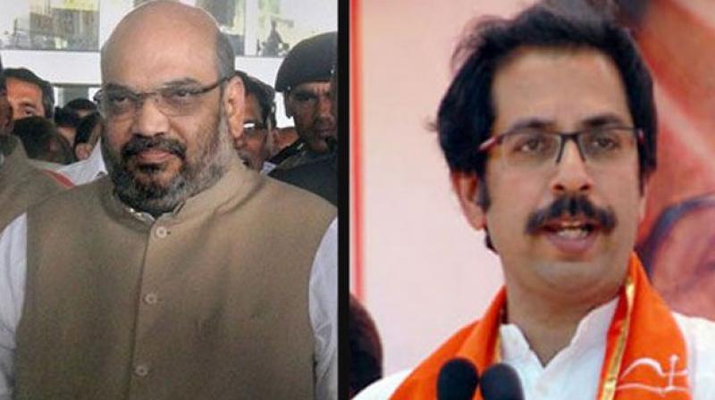 Amit Shah meets Uddhav Thackeray amid tension between alliance partners