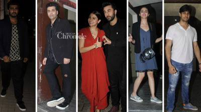 The makers of 'Ae Dil Hai Mushkil' held a screening of the film, which was attended by several Bollywood celebrities on Tuesday night. (Photo: Viral Bhayani)