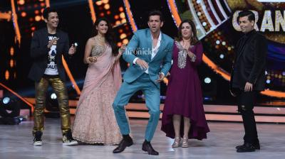 Hrithik Roshan promoted his film 'Kaabil' at the grand finale of the dance-based reality show 'Jhalak Dikhla Jaa' where he was seen dancing along with the judges, Karan Johar, Jacqueline Fernandez, Farah Khan and others. (Photo: Viral Bhayani)