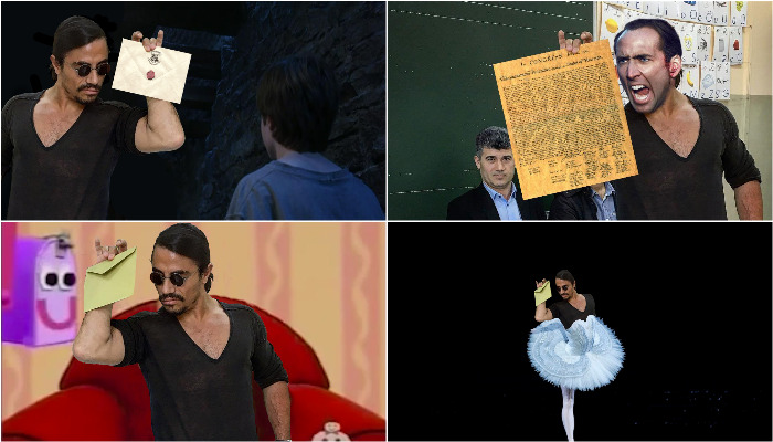 Turkish chef Nusret Gökçe who became popular as Salt Bae after his sprinkling skills went viral recent posted a photo of him casting his vote in the Turkey elections and photoshoppers had a lot of fun with it. (Photo: Reddit)