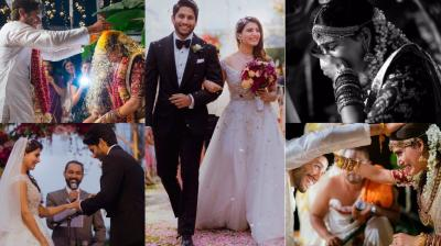 After getting married in a traditional Hindu ceremony on Friday, South stars Naga Chaitanya and Samantha Ruth Prabhu also said 'I do' according to Christian rituals on Saturday. (Photos: Twitter/ Instagram)