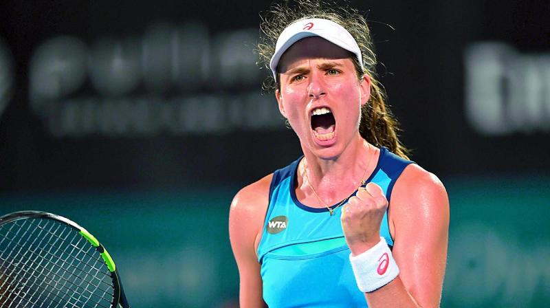 Konta advances to Sydney International final vs Radwanska