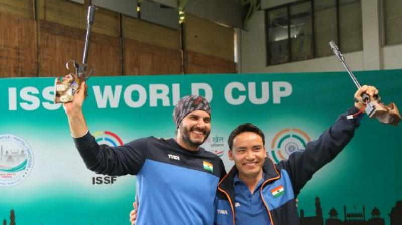 Jitu Rai wins gold at Shooting World Cup
