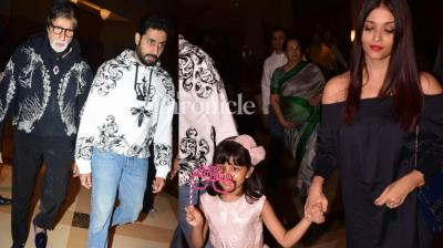 Abhishek Bachchan and Aishwarya Rai Bachchan's daughter Aaradhya celebrated her sixth birthday on Thursday, with the family celebrating the occasion together. (Photo: Viral Bhayani/ Twitter)