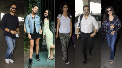 On Wednesday, a lot of action went down at the Mumbai airport and streets as our shutterbugs spotted many celebrities, flaunting different style. (Photo: Viral Bhayani)