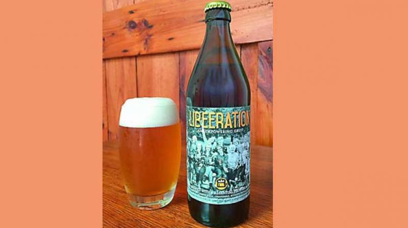 A gruit style ale, liberation is golden straw in colour, with fruity, spicy, earthy flavours. It contains a combination of ingredients to help with hormone shift like motherwort, lemon balm, chamomile, stinging nettle, mugwort, rose, chickweed and damania.