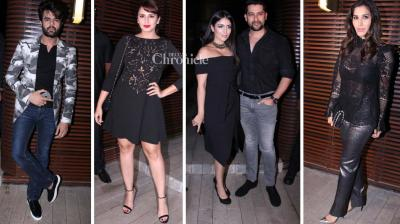 Numerous Bollywood celebrities were present at the launch of a lounge bar in Mumbai on Thursday. (Photo: Viral Bhayani)