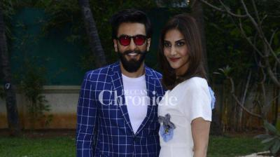 Ranveer Singh and Vaani Kapoor were seen promoting their upcoming film 'Befikre' in Mumbai on Thursday. (Photo: Viral Bhayani)
