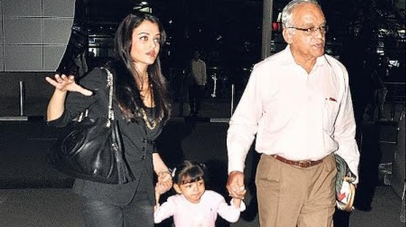 Image result for aishwarya aradhya with her father