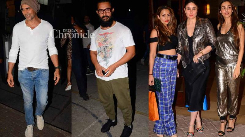 Bollywood stars were snapped by shutterbugs at various locations in Mumbai on Wednesday. (Photo: Viral Bhayani)