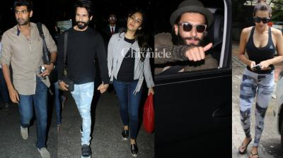Bollywood stars stepped out in their fashionable best for professional and personal reasons and shutterbugs clicked them in Mumbai on Monday. (Photo: Viral Bhayani)