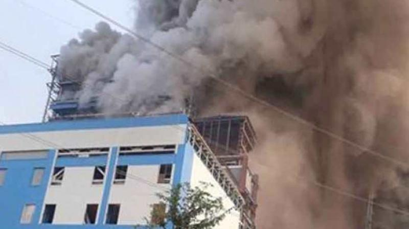 At least 70 people have suffered injuries after an ash-pipe exploded at the National Thermal Power Corporation (NTPC)'s plant in Raebareli. (Photo: PTI)