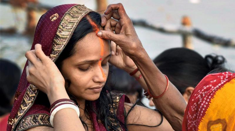 Chhath is an ancient Hindu Vedic festival historically native to the Madhesh province and Mithila region of Nepal and Bihar, Jharkhand, Eastern Uttar Pradesh provinces of India. (Photo: PTI)