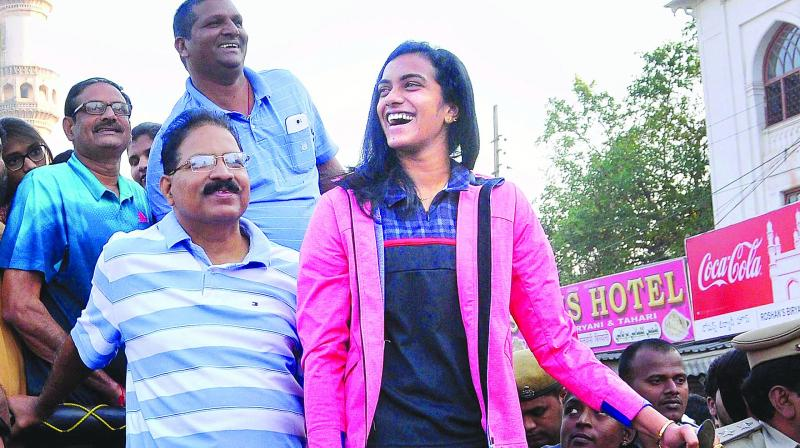 AIMIM MLA calls PV Sindhu volleyball player