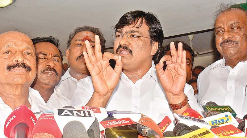 DMK cadre protest action against party MLAs