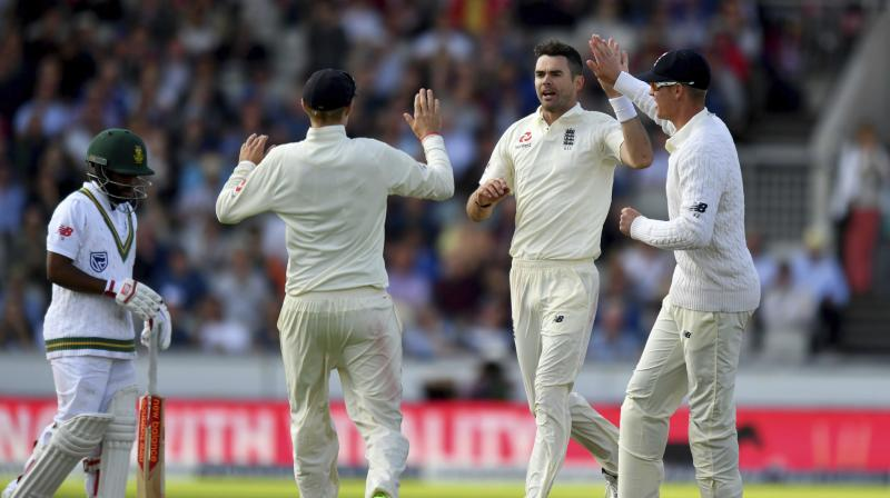 Image result for james anderson vs south africa latest test