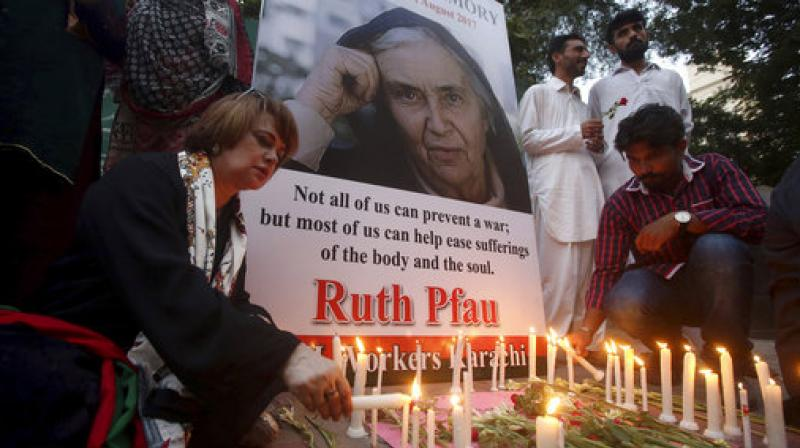 Dr. Ruth Pfau's state funeral underway
