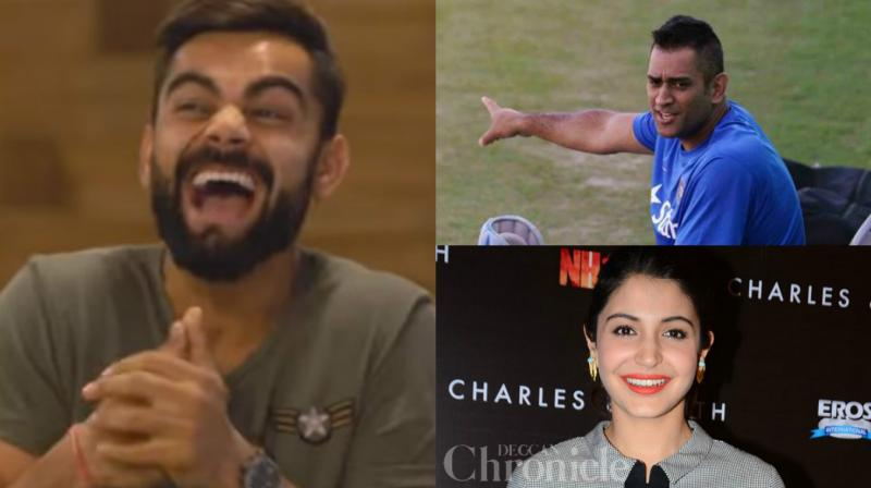 While Virat Kohli said that he has learnt a lot from MS Dhoni over the years, he went on to say that he has become more sensible because of Anushka Sharma. (Photo: Screengrab / AFP)