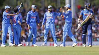 Indian spinners ran through Sri Lanka's batting line-up after a solid opening start from Danushka Gunathilaka and Niroshan Dickwella. (Photo: AP)
