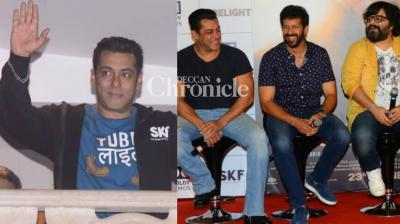 Salman Khan launched the trailer of his upcoming film 'Tubelight' in Mumbai on Thursday and was courteous enough to acknowledge the fans who had gathered outside his house. (Photo: Viral Bhayani)