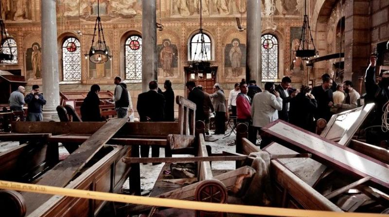 Families gather after Egypt church attack