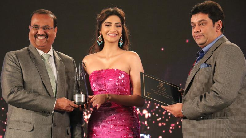 A gladdened Sonam said that she was honoured to have been awarded.