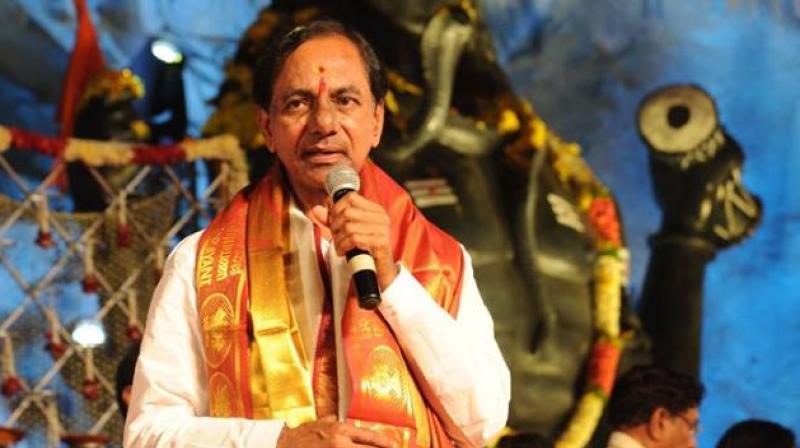 Telangana CM performs 'Griha Pravesh' ceremony of new building complex
