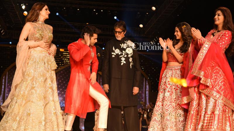 Numerous Bollywood celebrities were seen at a fashion show held for the Cancer Patients Aid Association (CPAA) on Sunday. (Photo: Viral Bhayani)