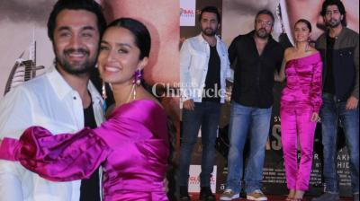 The team of 'Haseena Parkar' launched the trailer of the film in Mumbai on Tuesday. (Photo: Viral Bhayani)