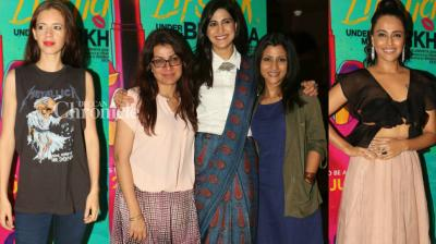 The team of 'Lipstick Under My Burkha' held a screening of their film in Mumbai, which was attended by several Bollywood stars on Tuesday. (Photo: Viral Bhayani)