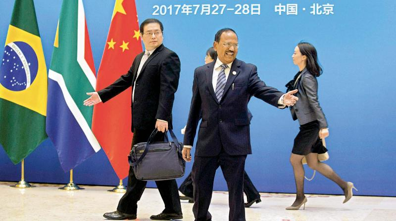 National Security Adviser Ajit Doval at the Diaoyutai state guesthouse in Beijing where he attended a BRICS NSA meet amidst Sikkim standoff.