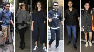 Anushka Sharma, Alia Bhatt, Varun Dhawan, Sonakshi Sinha, Gauri Khan and other stars were spotted at the airport while Ranbir Kapoor, Farhan Akhtar among others were snapped at various locations in Mumbai. (Photo: Viral Bhayani)