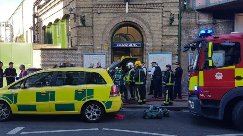 At least 22 injured as improvised terrorist bomb explodes in underground train