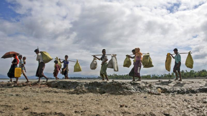 About 40 per cent of the total Rohingya population living in the Rakhine State of Myanmar have now fled to Bangladesh.