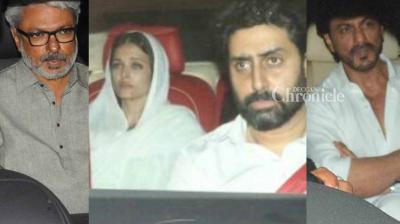 Several Bollywood stars were spotted arriving for the last rites of Aishwarya Rai Bachchan's father Krishnaraj Rai held in Mumbai on Saturday. (Photo: Viral Bhayani)