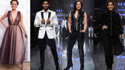 Several Bollywood stars were present at day four of the Amazon Fashion Week on Saturday. (Photo: Viral Bhayani)