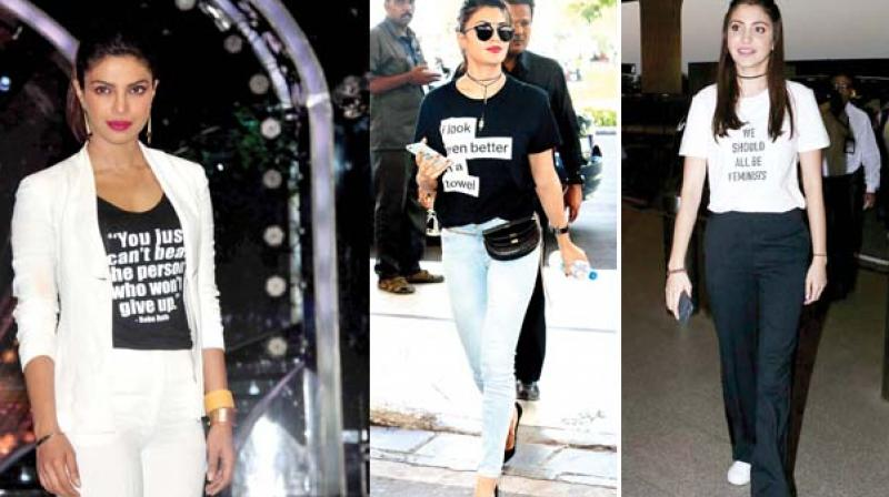 Priyanka Chopra, Jacqueline Fernandez rocks this trend in an airport look and Anushka Sharma's T-shirt does all the talking!