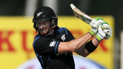 Guptill has helped push the NZ run rate up, at the top of the oder. (Photo: AP)