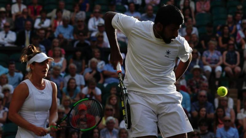 Wimbledon 2017: Bopanna-Dabrowski crash out in mixed doubles quarters