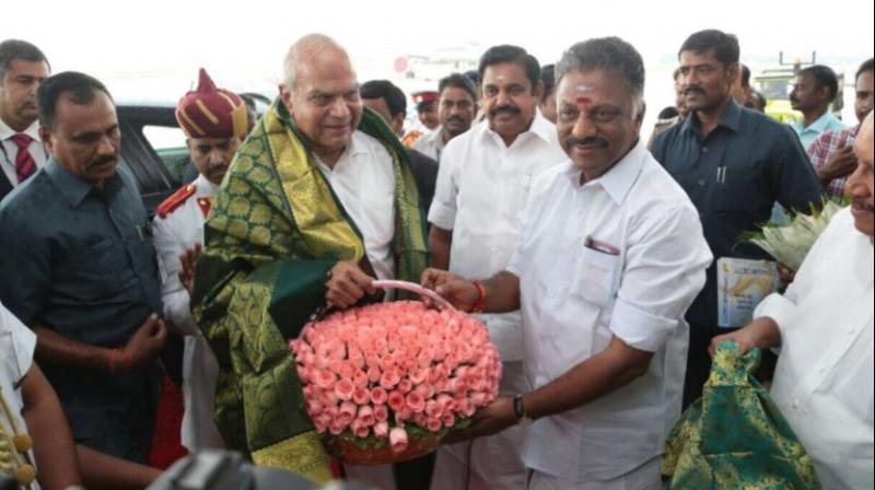 Banwarilal Purohit was sworn in as the 25th Governor of Tamil Nadu on Friday. (Photo: Twitter |@OfficeOfOPS)