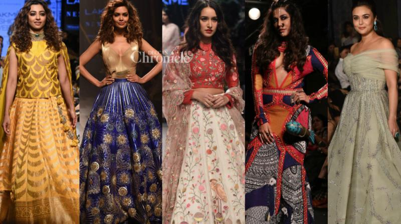 Shraddha Kapoor, Radhika Apte, Esha Gupta, Chitrangada Singh, Preity Zinta and several other stars walked the ramp on Day 3 of the Lakme Fashion Week being held in Mumbai currently. (Photo: Viral Bhayani)