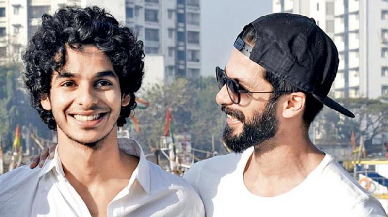 Ishaan with Shahid.