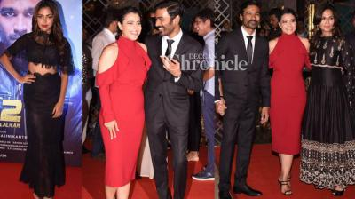 The team of the Tamil film 'VIP 2' launched its Hindi trailer at a star-studded event in Munbai on Sunday. (Photo: Viral Bhayani)