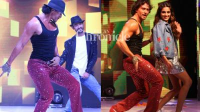 Tiger Shroff performed in front of a huge crowd in Pune to pay tribute to legendary artiste Michael Jackson on the occasion of his eight death anniversary in Pune on Sunday. (Photo: Viral Bhayani)
